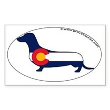 Colorado State Flag Dachshund Decal
