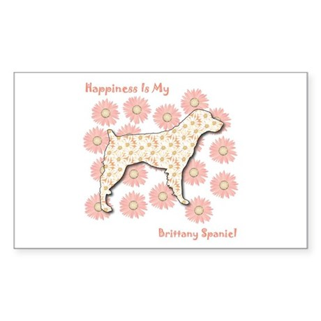 Brittany Happiness Rectangle Sticker