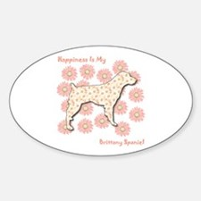 Brittany Happiness Oval Decal