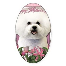 Mothers_Day_Pink_Tulips_Bichon_Fris Decal
