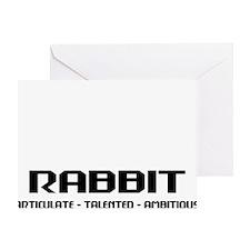 rabbit57red Greeting Card