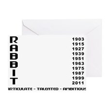 rabbit55red Greeting Card