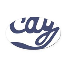 cay2 Oval Car Magnet