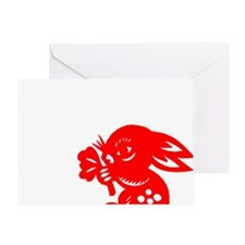 rabbit54dark Greeting Card