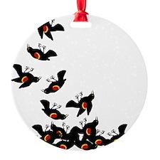 falling-blackbirds Ornament