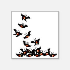 "falling-blackbirds Square Sticker 3"" x 3"""