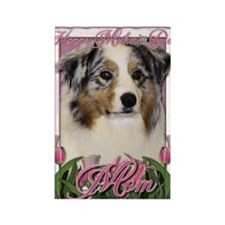 Mothers_Day_Pink_Tulips_Australia Rectangle Magnet