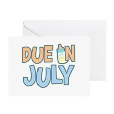 Due In July Boy Greeting Cards (Pk of 10)