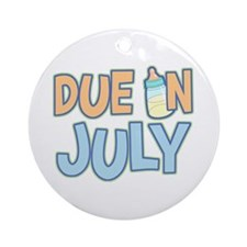 Due In July Boy Ornament (Round)