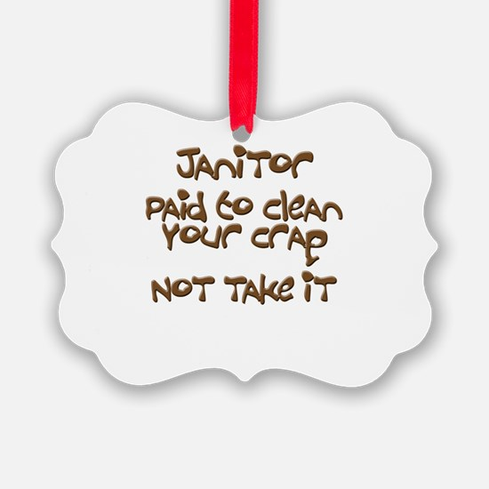 funny janitor Ornament