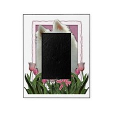Pink_Tulips_American_Eskimo Picture Frame