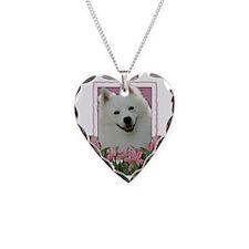 Pink_Tulips_American_Eskimo Necklace