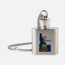 IDstateFlagILY Flask Necklace