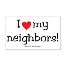i-heart-my-neighbors Rectangle Car Magnet