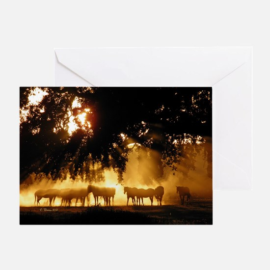 Field Horses signed. Oct. Winner Greeting Card