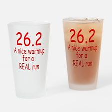 runshirt copy Drinking Glass