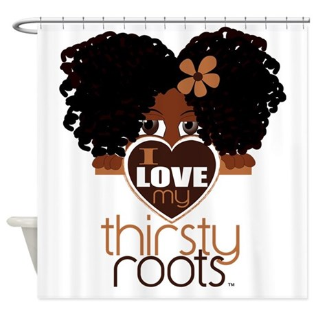 Curly Natural Afro Shower Curtain By Admin CP25308057