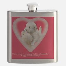 Golden Retriever Valentine Magnet, Tile and  Flask