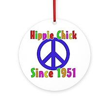 Hippie Chick1951 Round Ornament