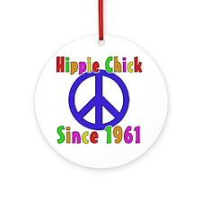 Hippie Chick1961 Round Ornament