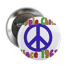 """Hippie Chick1961 2.25"""" Button"""