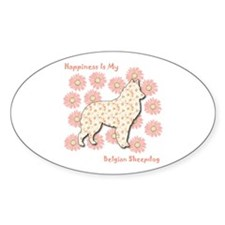 Malinois Happiness Oval Decal