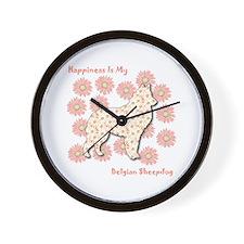 Malinois Happiness Wall Clock