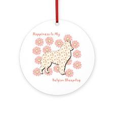 Malinois Happiness Ornament (Round)