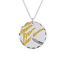 Meter Reader From Outer Spac Necklace Circle Charm