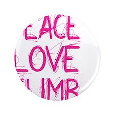 "peace love climb pink white 3.5"" Button"