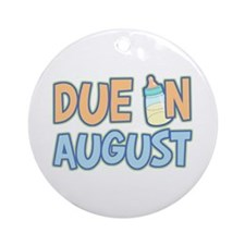 Due In August Boy Ornament (Round)