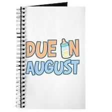 Due In August Boy Journal