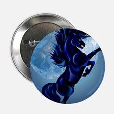 """Rearing Stallion and Blue Moon Poster 2.25"""" Button"""