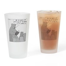 Bear Story Time - no text Drinking Glass