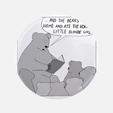 """Bear Story Time - no text 3.5"""" Button"""