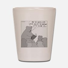 Bear Story Time - no text Shot Glass