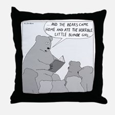 Bear Story Time - no text Throw Pillow