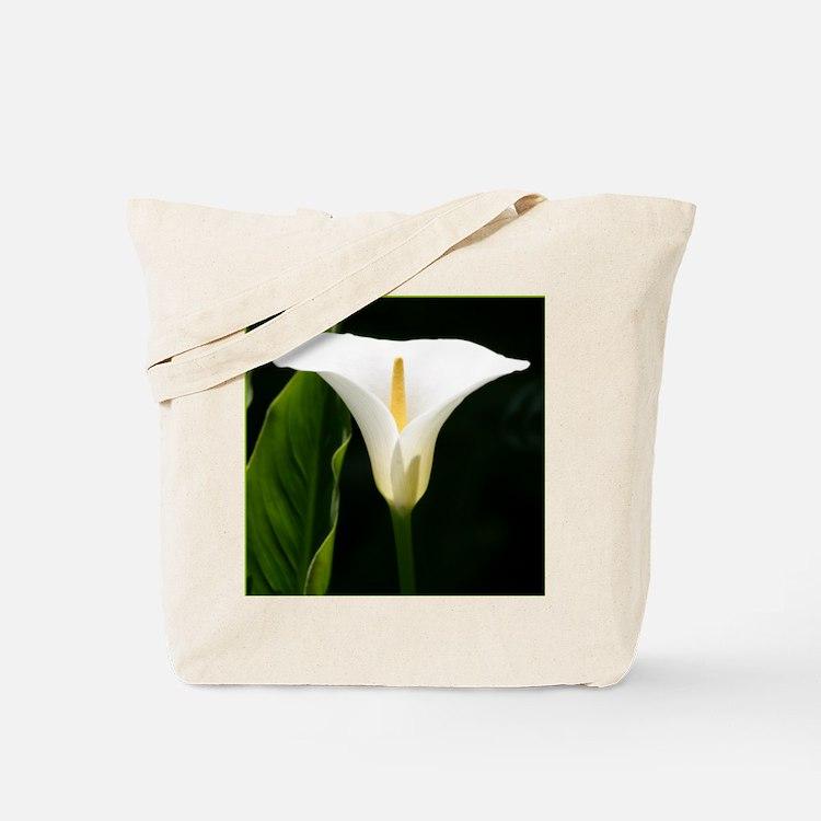 CallaLilySquareBorder Tote Bag