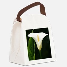 CallaLilySquareBorder Canvas Lunch Bag