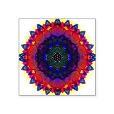 "lotusii-mandala02-10x10 Square Sticker 3"" x 3"""