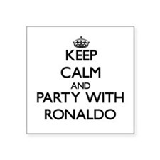 Keep Calm and Party with Ronaldo Sticker