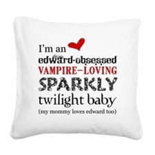 Sparkly Baby 3 Square Canvas Pillow