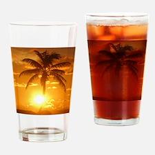 palm sunset Drinking Glass