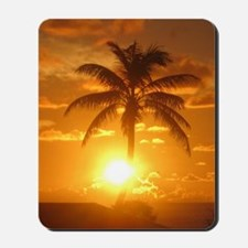 palm sunset Mousepad
