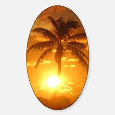 palm sunset Decal