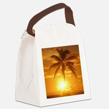 palm sunset Canvas Lunch Bag