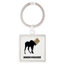 Anonymoose Square Keychain