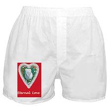 Eternal Love White Rose Valentines Da Boxer Shorts