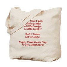 Bumpy Heart Valentines Day Card Verse Tote Bag