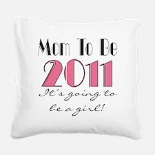 2011mombegirl Square Canvas Pillow